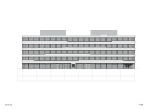 Ansicht Süd 3M Headquarter EMEA von Marazzi + Paul Architekten AG