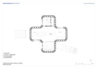 Erdgeschoss Swisshouse XXXII von Studio d'architettura<br/>