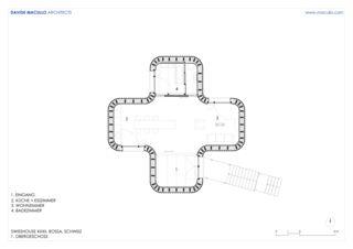 Obergeschoss Swisshouse XXXII von Studio d'architettura<br/>