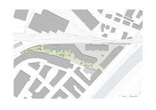 Umgebungsplan Arealüberbauung Giesshübel von Architekten ETH/ BSA/ SIA/SWB<br/>