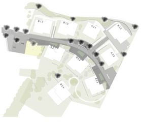 Lageplan Sonnenarena Langnau von Marazzi + Paul Architekten AG