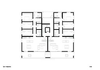 Typ A Erdgeschoss Sonnenarena Langnau von Marazzi + Paul Architekten AG