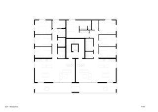 Typ A Obergeschoss Sonnenarena Langnau von Marazzi + Paul Architekten AG