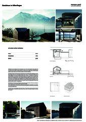 A0 Poster Bootshaus in Hilterfingen von Marazzi + Paul Architekten AG