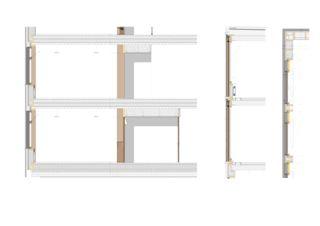 Fassadenschnitte Büro- und Produktionsgebäude von Architekten ETH SIA BSA<br/>