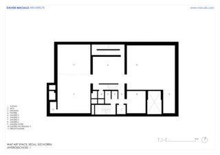 Untergeschoss -1 WAP Art Space von Studio d'architettura<br/>