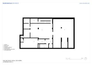 Untergeschoss -2 WAP Art Space von Studio d'architettura<br/>