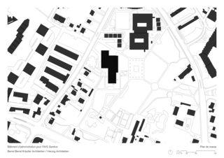 Plan de masse BCFWS Verwaltungsgebäude für die AHV de ARGE Berrel Berrel Kräutler / Herzog Architekten