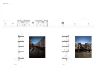 Strassenfassade -schnitt Patio von