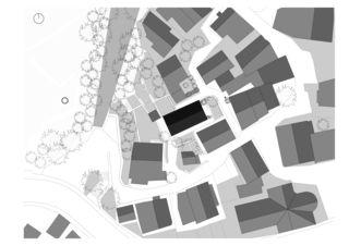 Situationsplan transformation d'une grange à ollon vs von Savioz Fabrizzi architectes Sàrl