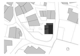 Situationsplan transformation d'une maison à ormône, savièse von Savioz Fabrizzi architectes Sàrl