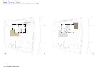 Grundrisse Neubau EFH Huggenberg von Giesser Architektur + Planung