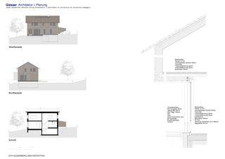 Ansicht, Schnitt, Detail Neubau EFH Huggenberg von Giesser Architektur + Planung