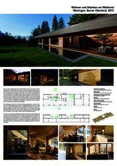 Plakat A0 Wohnen und Arbeiten am Waldrand de Reimann Sidler Architekten GmbH