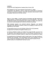 Texte de présentation Projet Homage de Voltolini architectures Sarl