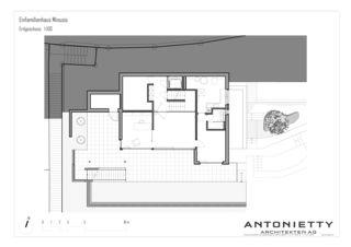 Plan rez-de-chaussée EFH Minusio de Dipl. Architekten FH/SIA<br/>