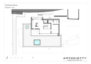 Plan 1er étage EFH Minusio de Dipl. Architekten FH/SIA<br/>