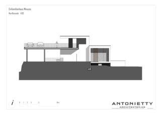 Façade nord EFH Minusio de Dipl. Architekten FH/SIA<br/>