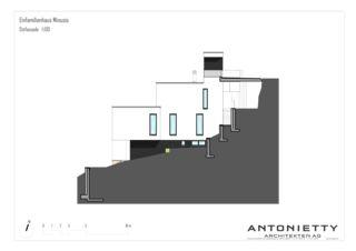 Ostfassade EFH Minusio von Dipl. Architekten FH/SIA<br/>