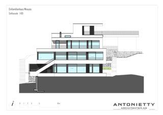 Südfassade EFH Minusio von Dipl. Architekten FH/SIA<br/>