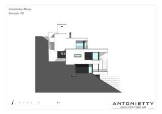 Westfassade EFH Minusio von Dipl. Architekten FH/SIA<br/>