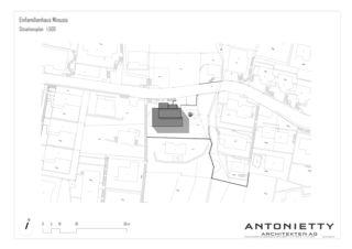 Plan de masse EFH Minusio de Dipl. Architekten FH/SIA<br/>