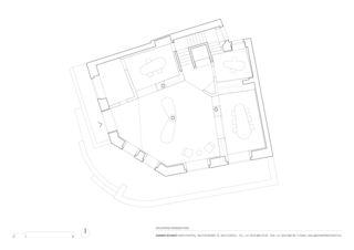 Grundriss Erdgeschoss Raiffeisenbank Zürich Wollishofen von Zimmer Schmidt Architekten GmbH