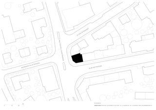Situationsplan Raiffeisenbank Zürich Wollishofen von Zimmer Schmidt Architekten GmbH