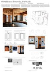 Plakat A0 Raiffeisenbank Zürich Wollishofen von Zimmer Schmidt Architekten GmbH