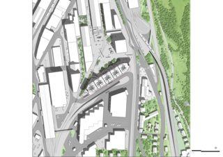 Plan de masse Transitlager Dreispitz de BIG CPH
