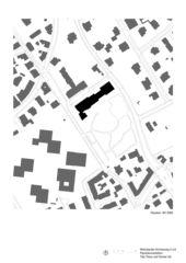 Schwarzplan Wohnbauten Kirchenweg 2,4,8, 8008 Zürich  von Tilla Theus und Partner AG