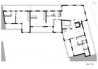 Plan attique Wohnüberbauung Münchhaldeneck de atelier ww Architekten SIA AG