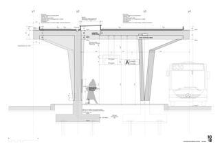 Konstruktionsplan Bushof Schwerzenbach von 10:8 Architekten GmbH