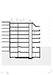 Coupe longitudinale Haus Langstrasse de Penzel Valier AG