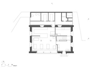 Erdgeschoss Cabane Rambert von Bonnard Woeffray architectes fas sia