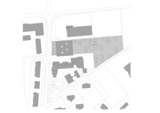 Situationsplan Ecole primaire  von Bonnard Woeffray architectes fas sia