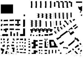 Plan de masse Wohnsiedlung Riedgraben, Schwamendingen de Architekten ETH SIA<br/>