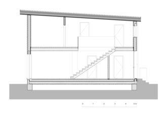 Schnitt Zur letzten Herberge von Roth Architektur