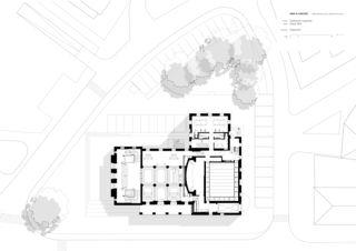 Grundriss Erdgeschoss Erneuerung Stadttheater Langenthal von Aebi & Vincent Architekten SIA AG