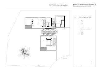 Grundriss EG DEFH Gerber Nidecker von Albertin Partner Architekten