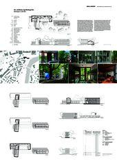 A0 Layout Gesamtübersicht Um- und Neubau Jugendherberge Bern von Aebi & Vincent Architekten SIA AG
