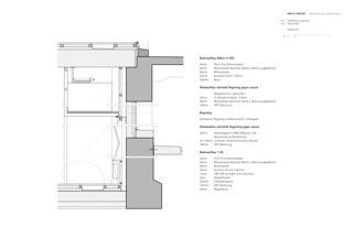 Detailschnitt Erneuerung Stadttheater Langenthal von Aebi & Vincent Architekten SIA AG