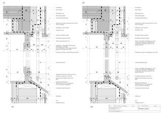 Fassadenschnitte Zweifamilienhaus von Architekten ETH SIA<br/>