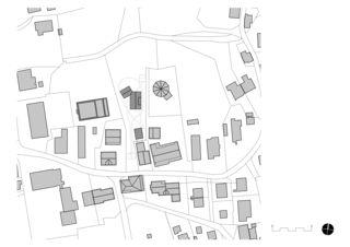Situationsplan Zweifamilienhaus von Architekten ETH SIA<br/>