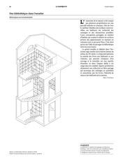 Axonométrie Maison multifamiliale Martinet de Dreier Frenzel