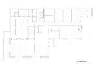 Grundriss Erdgeschoss Bâtiment ODMER (Objectif de Maintien et Réinsertion) Fondation Claire Magnin von Farini, Widerski et Geopolis<br/>