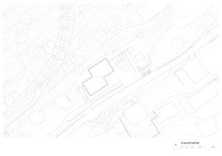 Situationsplan Bâtiment ODMER (Objectif de Maintien et Réinsertion) Fondation Claire Magnin von Farini, Widerski et Geopolis<br/>