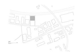 Situationsplan Neubau Bürogebäude mit Garage von HILDEBRAND