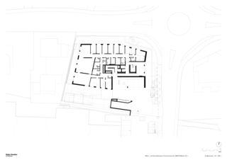 Grundriss EG 1:200 Neubau Wohn- und Geschäftshaus, Churerstrasse 54, 8808 Pfäffikon SZ von Halter Hunziker Architekten AG