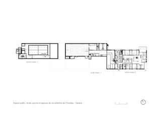 plan -1 Schulzentrum Chandieu de Architectes epfl fas<br/>